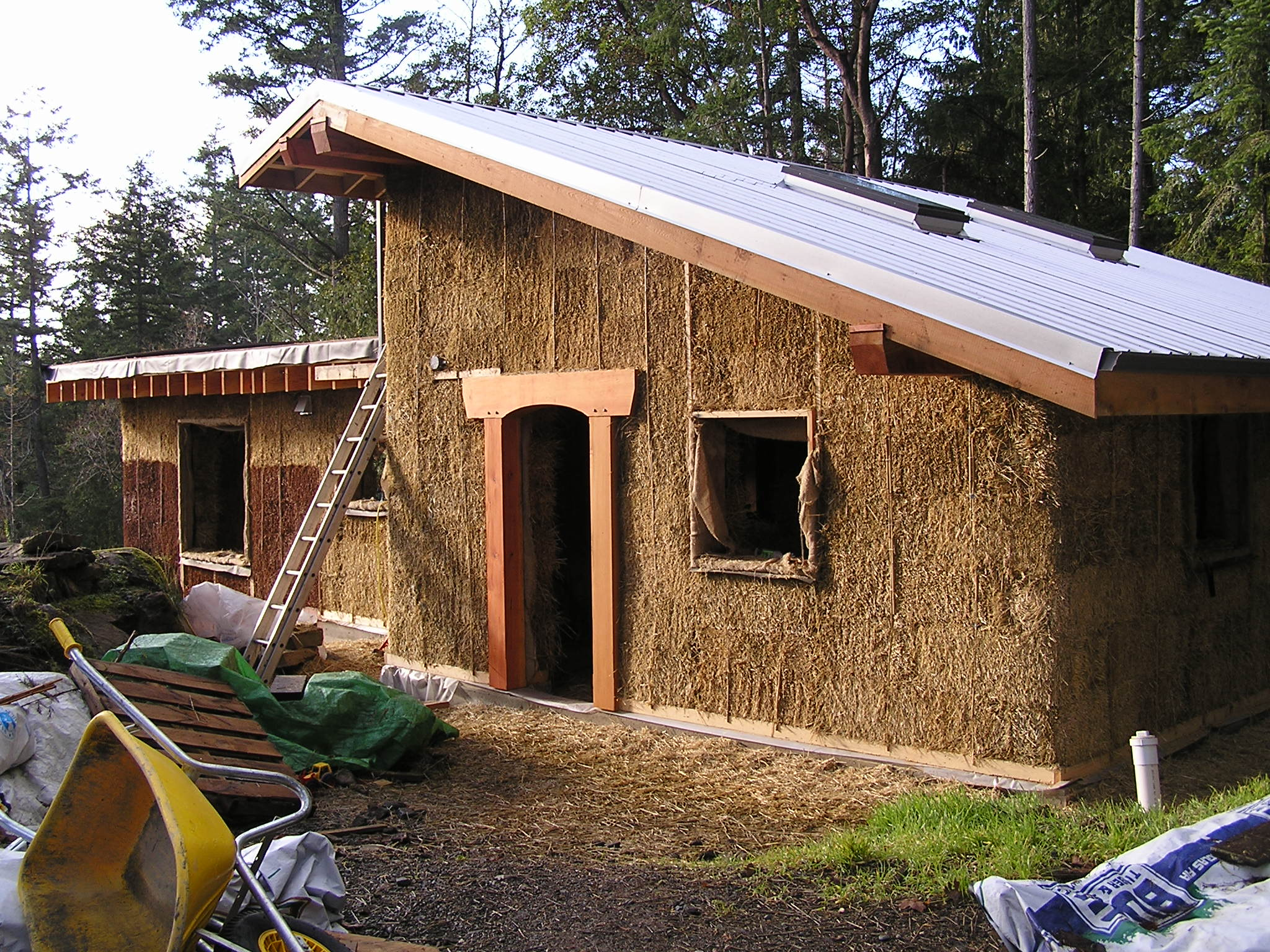 Strawbale construction inspirational village for Shed construction
