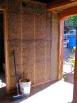 interior straw-stuffed wall
