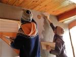 applying the plaster