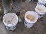 dry mixing in buckets