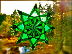 a green star of Christmas