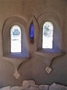 rough plastered windows