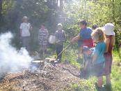 tending the coals