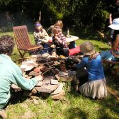 cooking the bannock