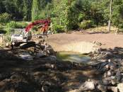 excavating the pond