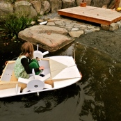 hand made paddle wheeler