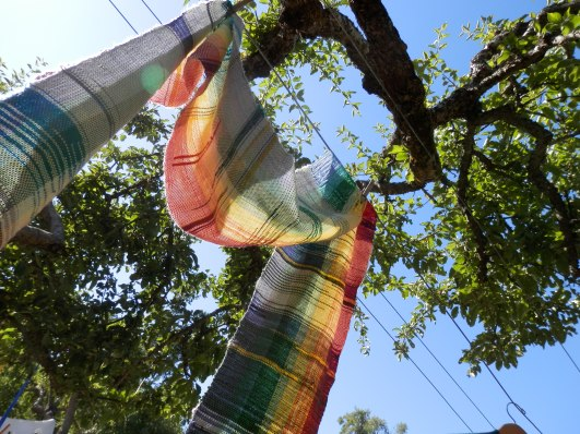 clothesline weaving