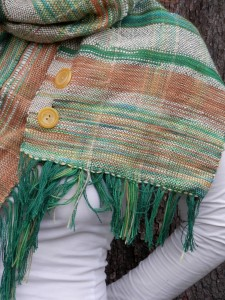 peach scarf buttons