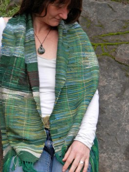 bluegreen scarf