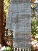 winter frost saori scarf