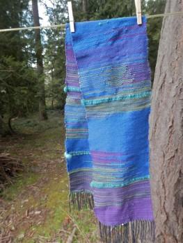 spring saori scarf