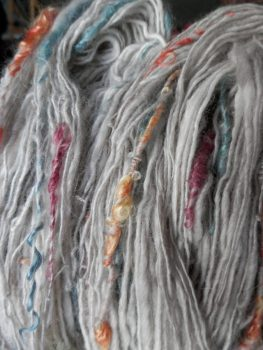 angora/alpaca with colourful bits