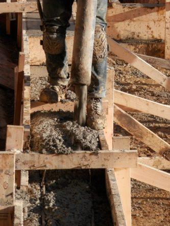 concrete pour 1