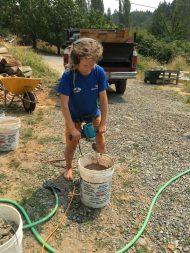 Mixing clay slip