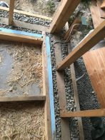 toe-ups on the concrete slab, including rough electrical